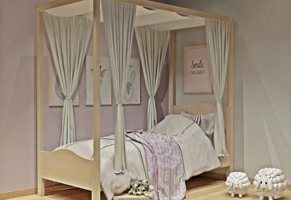 Κρεβάτι με ουρανό σειράς Filia