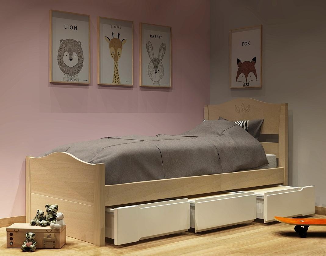 Κρεβάτι με συρτάρια σειράς Filia