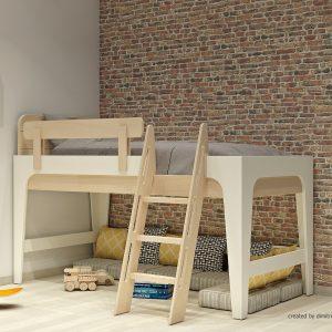 Κρεβάτι ημιυπερυψωμένο σειράς Morn