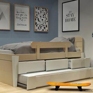 Κρεβάτι με συρτάρια και 2ο κρεβάτι σειράς Morn