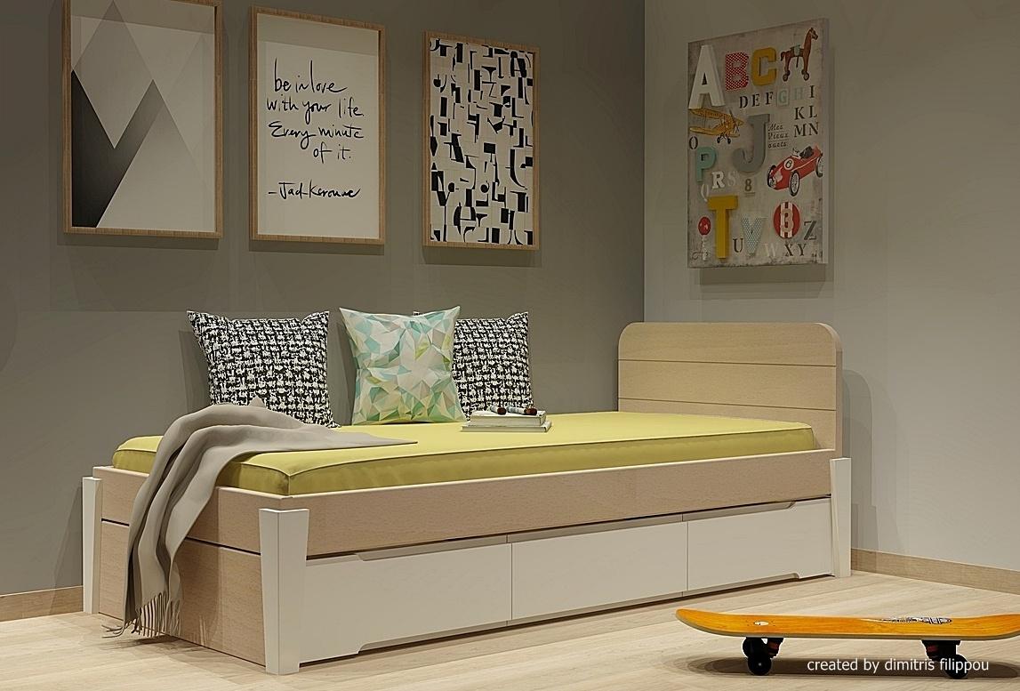 Κρεβάτι με συρτάρια σειράς Morn