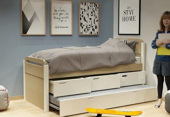 Κρεβάτι με συρτάρια και 2ο κρεβάτι σειράς Smile