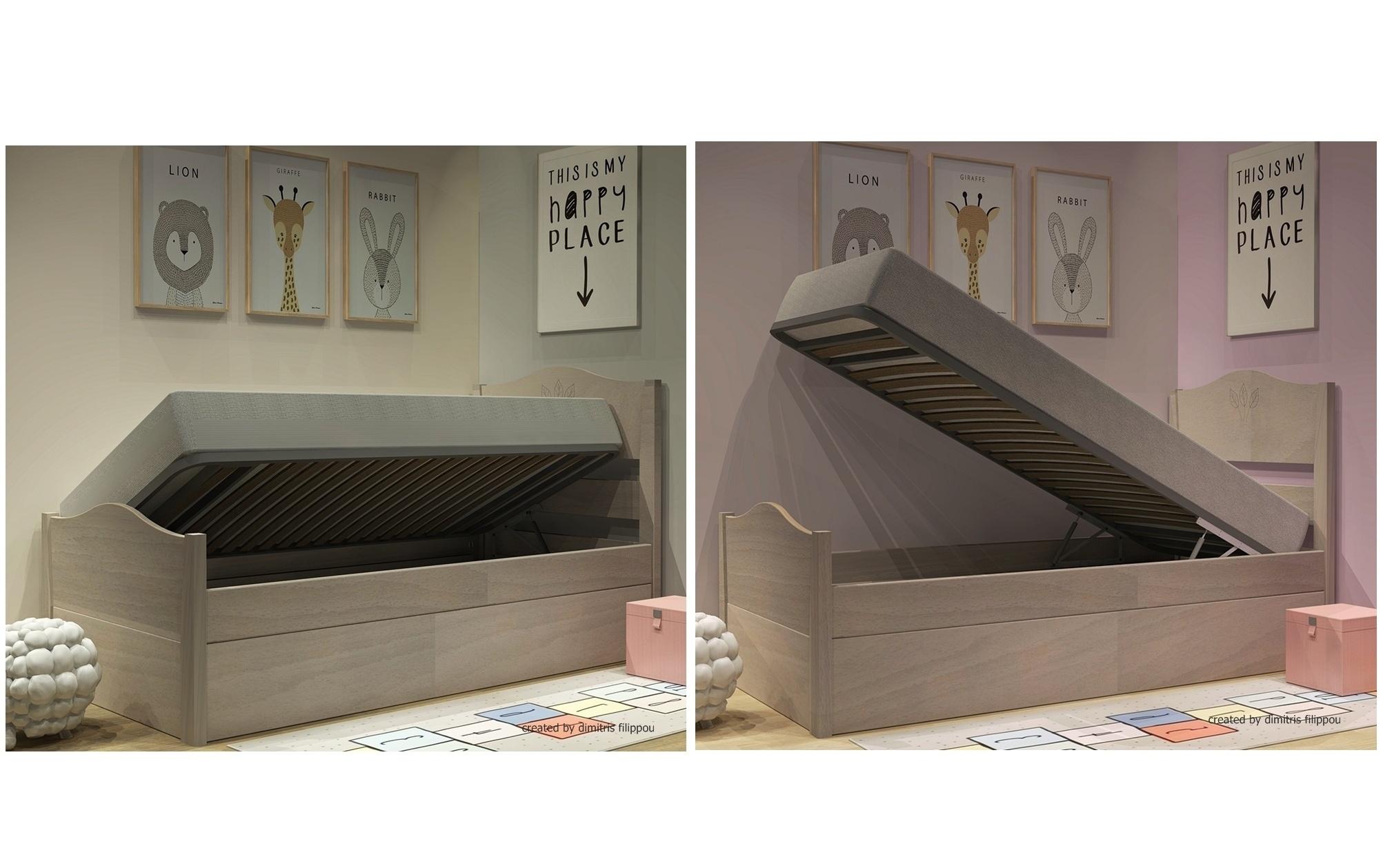 Κρεβάτι με μηχανισμό μπαούλου σειράς Filia