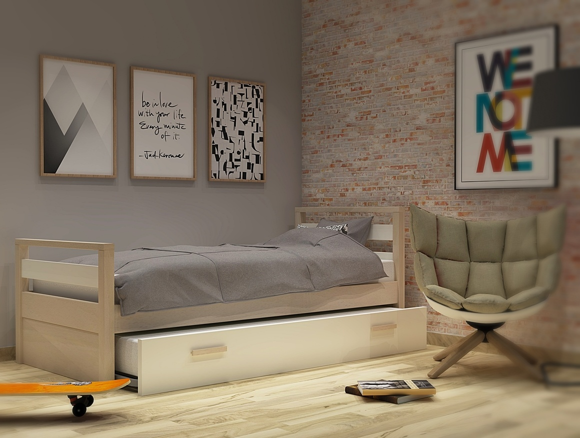 Κρεβάτι με 2ο κρεβάτι σειράς Simple