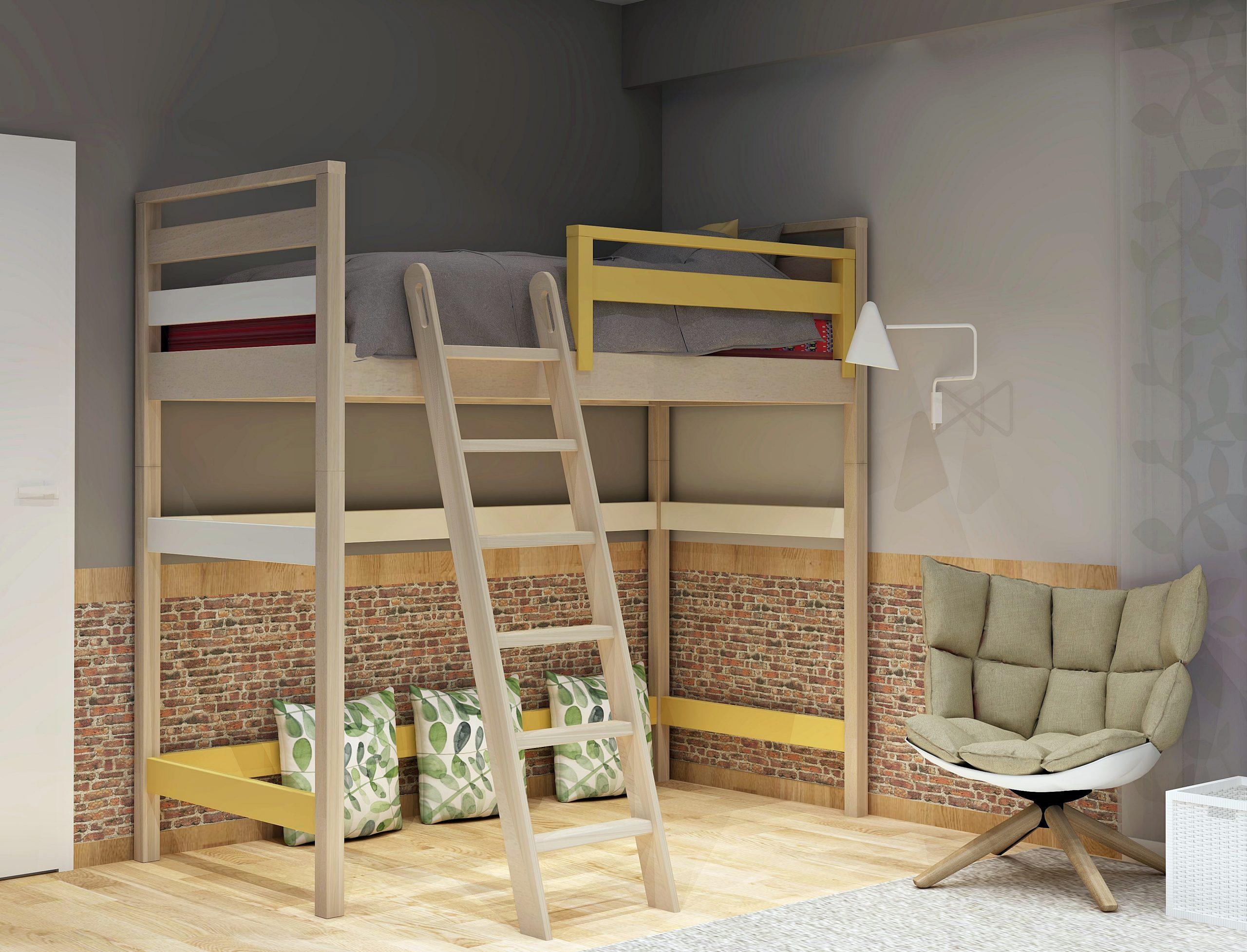 Κρεβάτι σειράς Simple υπερυψωμένο