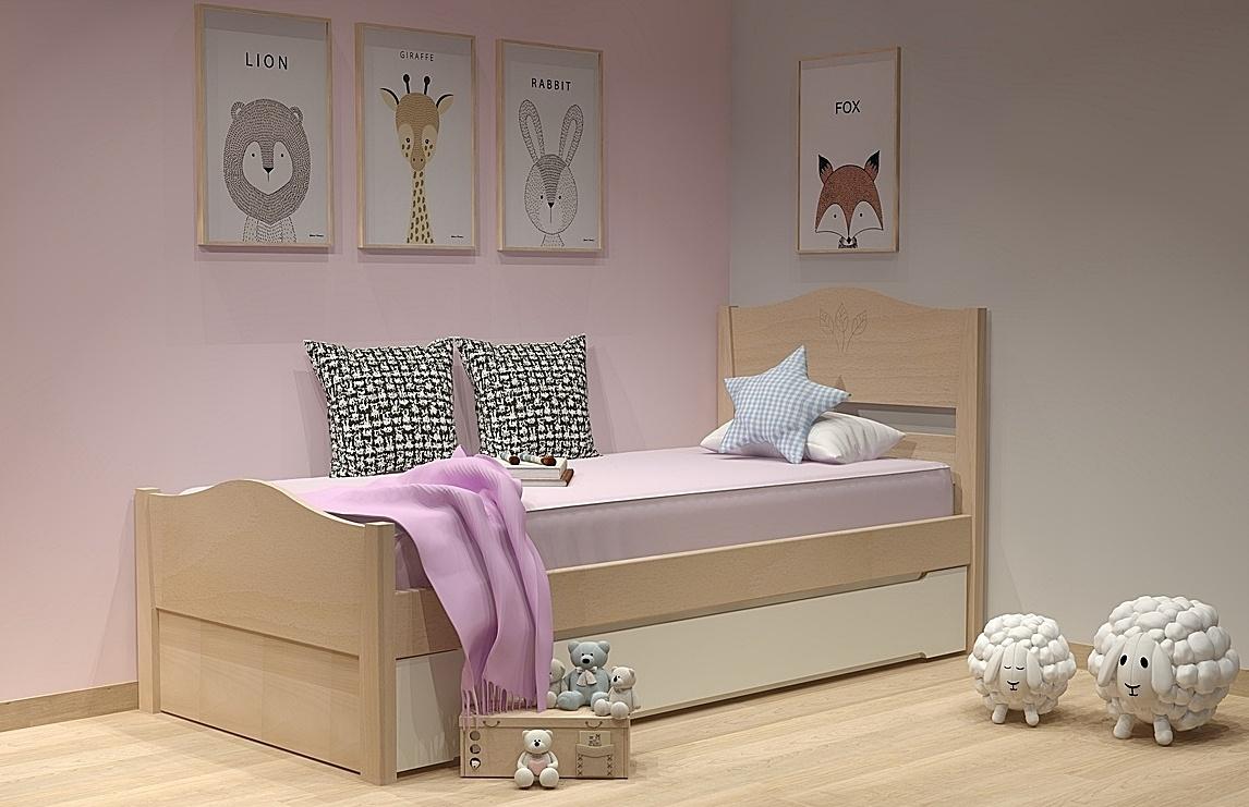Κρεβάτι με 2ο κρεβάτι σειράς Filia