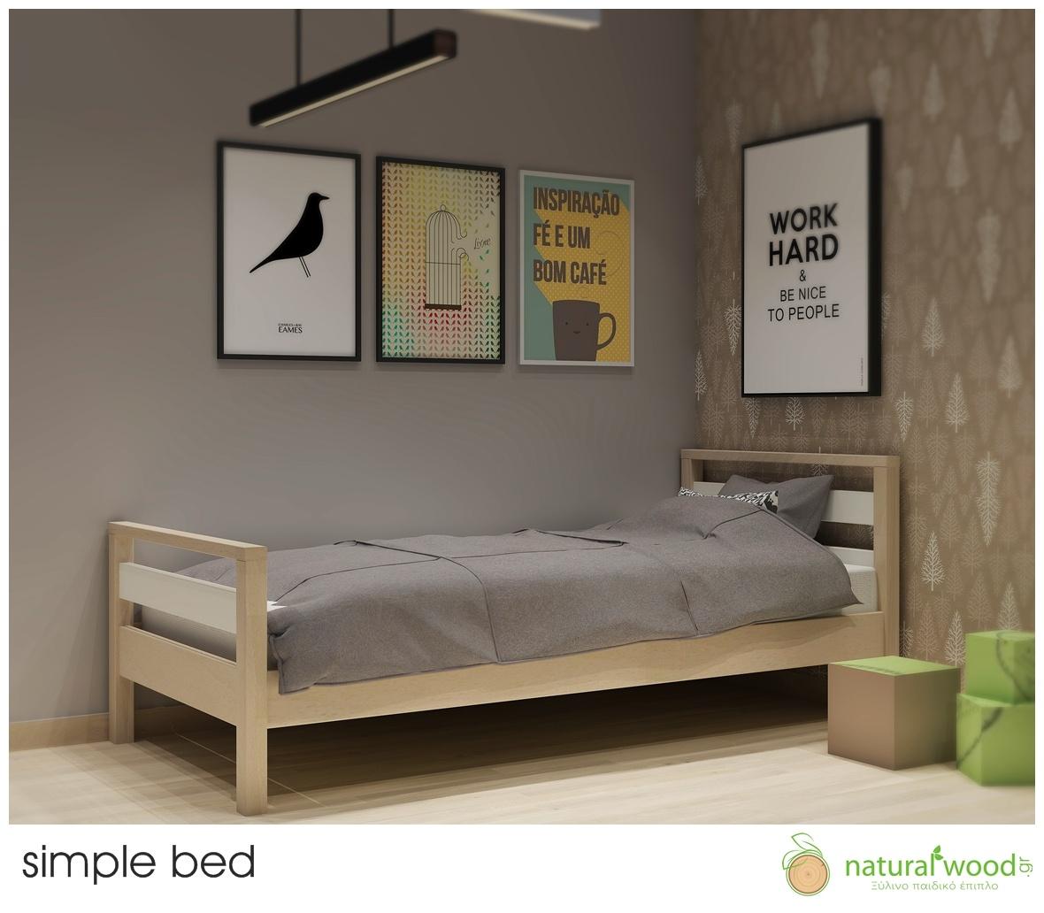 Κρεβάτι Simple Βασική έκδοση-χαμηλό μπροστινό-διπλό κεφαλάρι