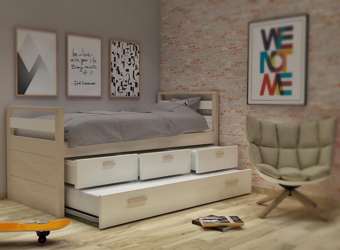 Κρεβάτι με συρτάρια και 2ο κρεβάτι σειράς Simple
