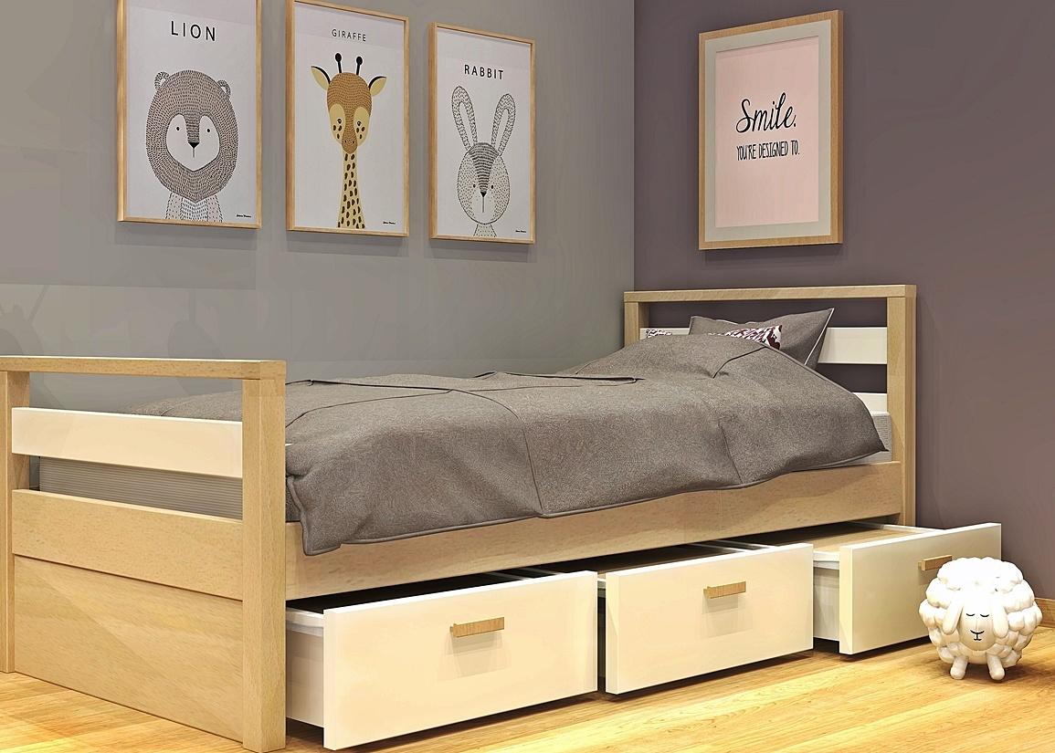 Κρεβάτι με συρτάρια σειράς Simple