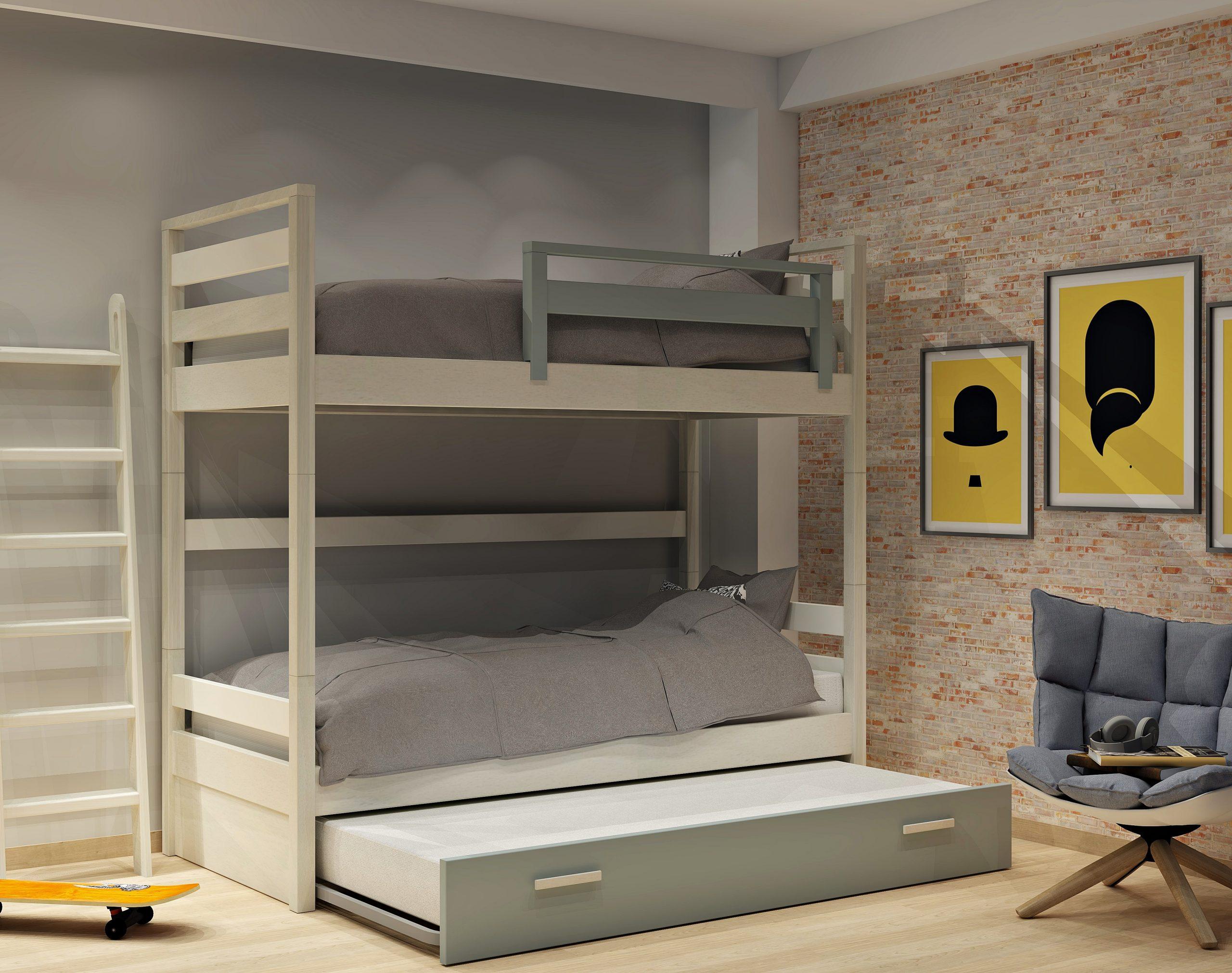 Κουκέτα σειράς Simple με 2ο κρεβάτι