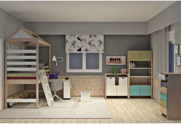 Πρόταση σύνθεσης παιδικού δωματίου 3