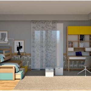 Πρόταση σύνθεσης παιδικού δωματίου 1